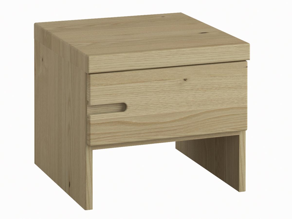 """Kastaniennachttisch """"Stefan"""" mit Griff links, eine Schublade, in Standardhöhe"""