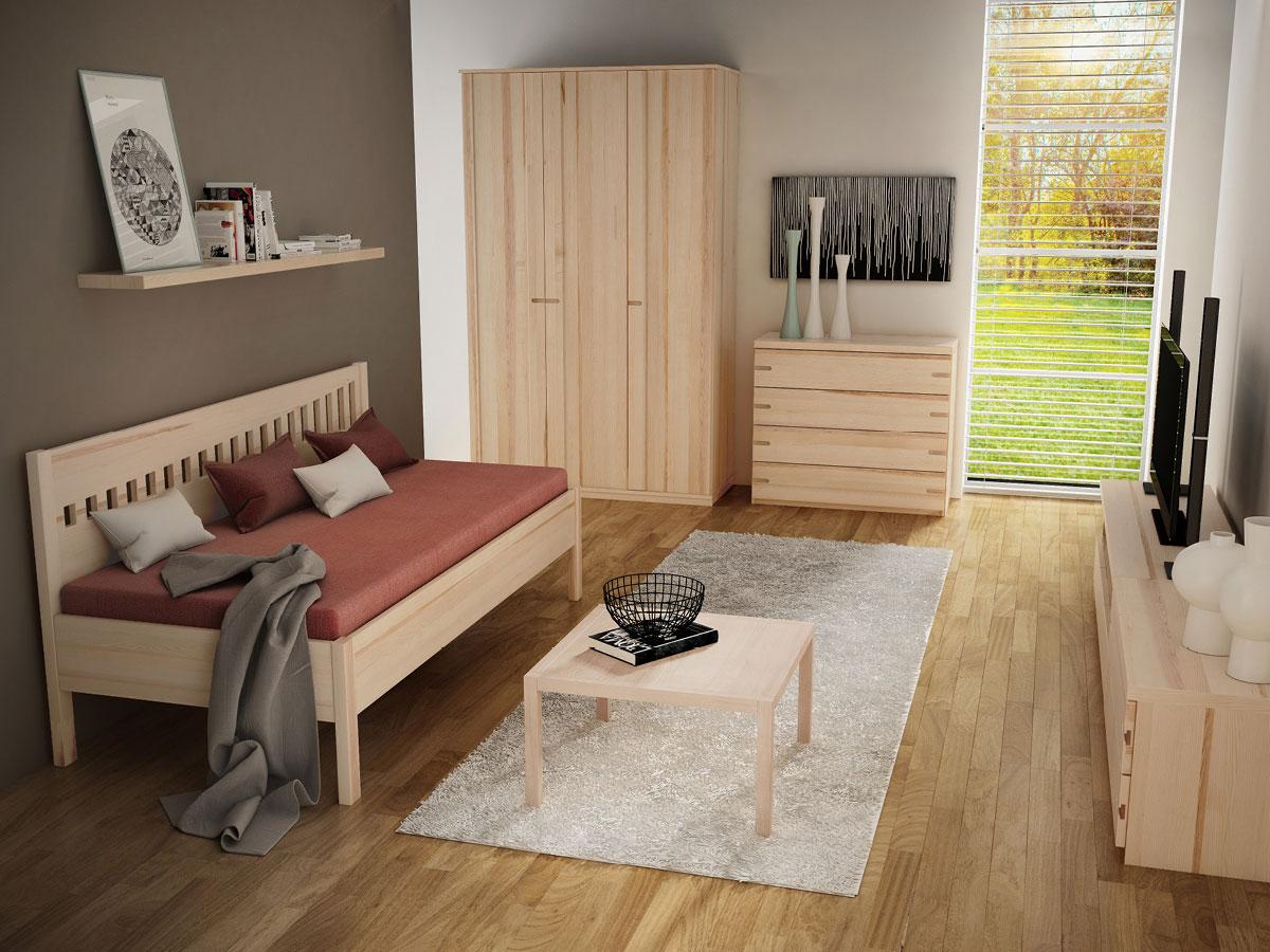 """Zimmer mit Eschensofa """"Stefanie"""" 90 x 200 cm"""