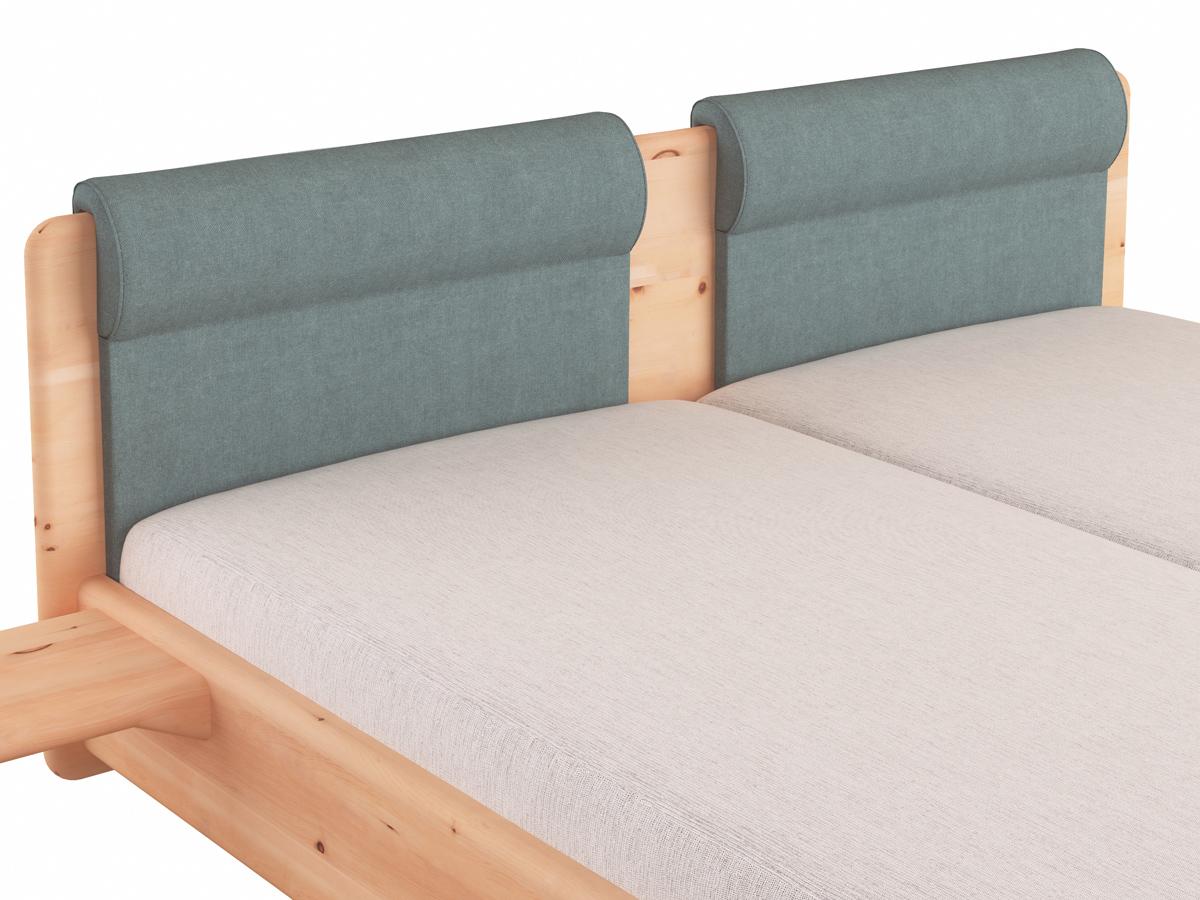 """Stoffkopfteil """"Charlotte"""", Ausführung rund mit Nackenstütze zweigeteilt, für das LaModula Bett"""