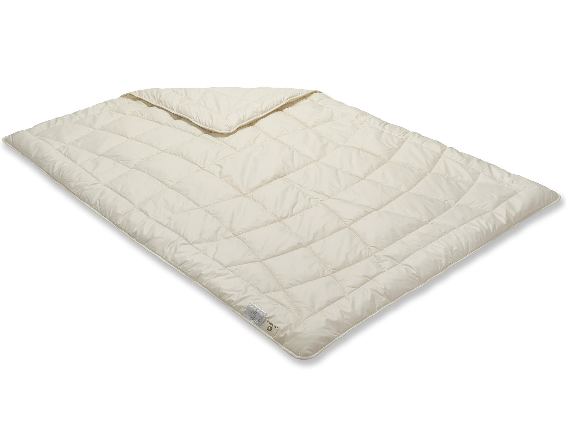 Diese Decke ist etwas Besonderes: Sie wird mit Einnadeltechnik hergestellt.