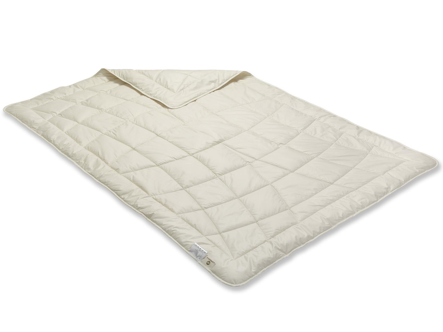 Die Decke wurde mit Einnadel-Technik gesteppt.