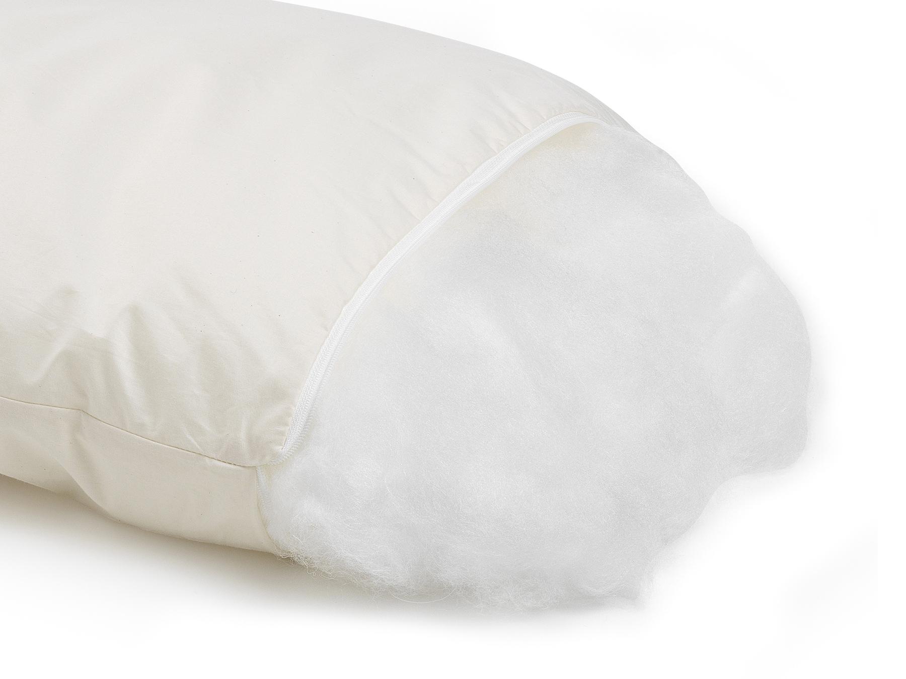 Durch Entnahme oder Zugabe von Füllmaterial kann das Kissen individuell angepasst werden.