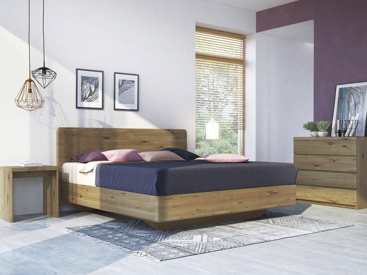 """Wildeichenschlafzimmer mit Bett """"Valentina"""" Boxspring"""