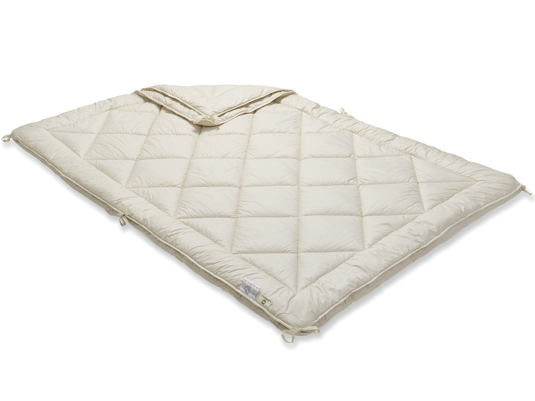 Mit den praktischen Bändern werden beide Decken einfach und schnell zu einer verbunden.