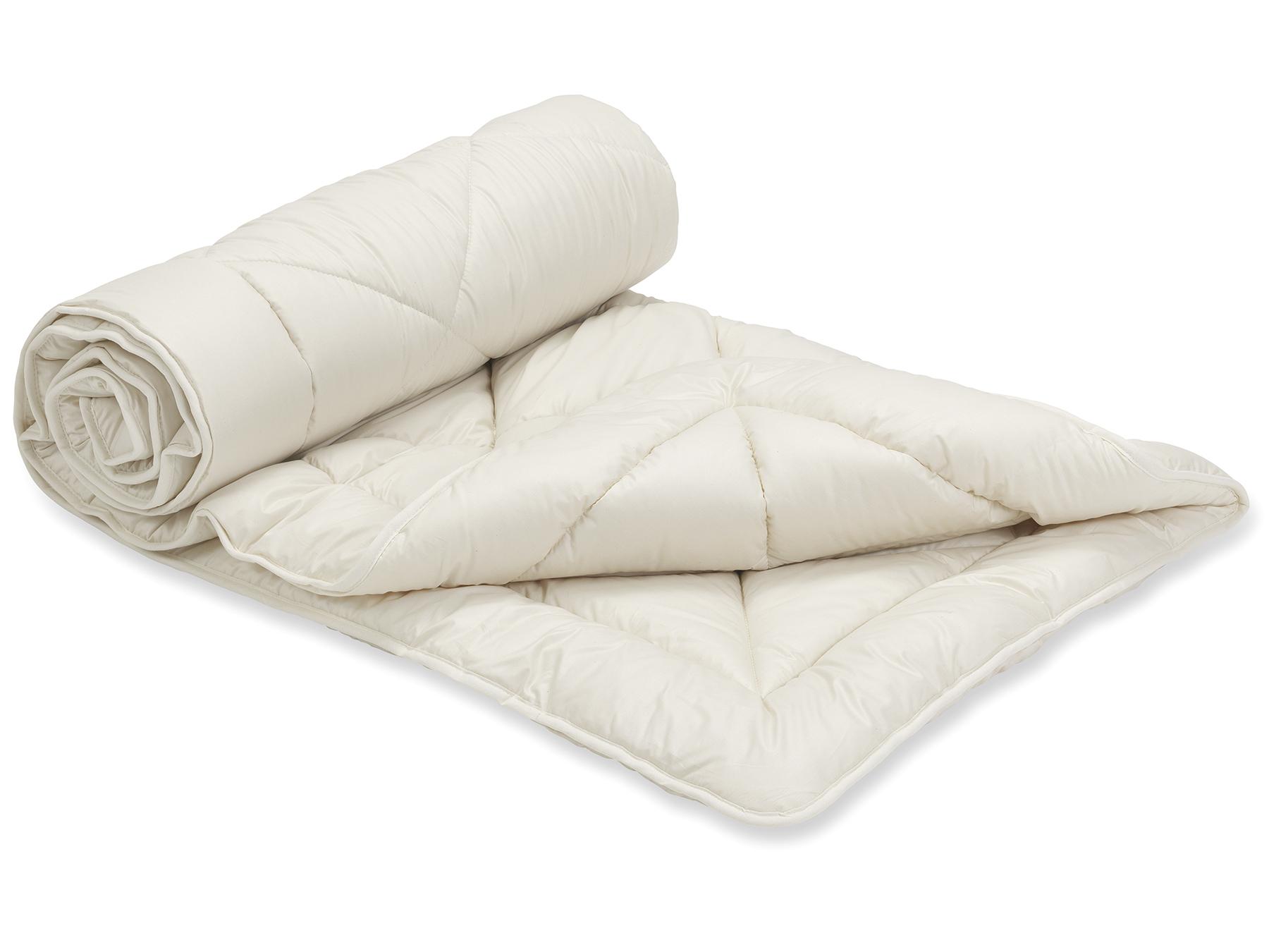 Füllung: Schafschurwolle und Zirbenflocken (kbT), Bezug: Feinbatist aus Bio-Baumwolle (kbA)