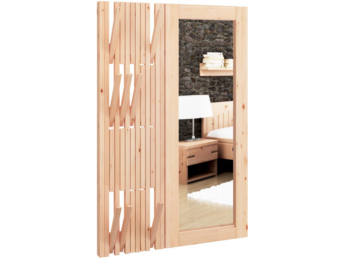 Wandgarderobe aus Zirbenholz