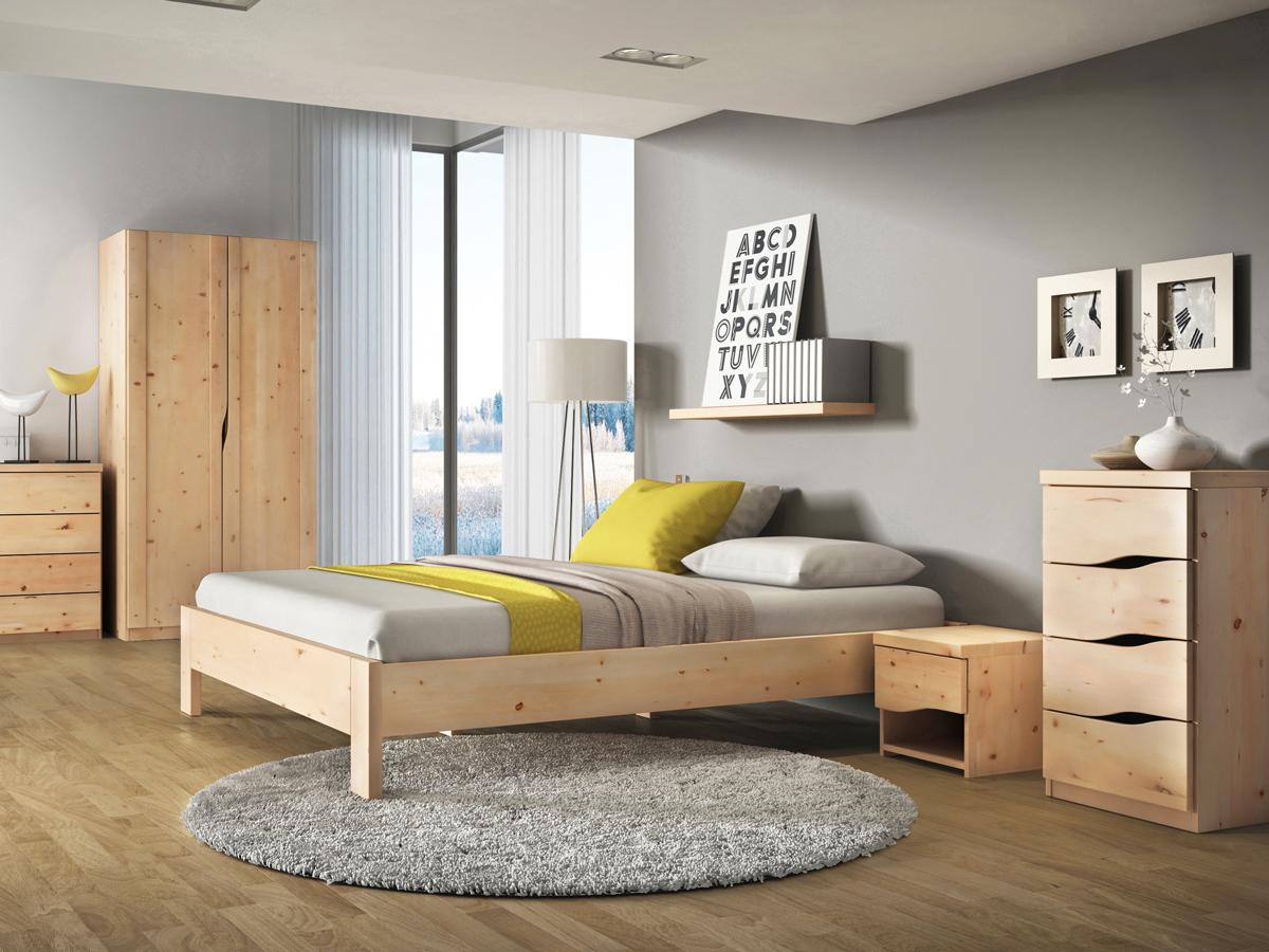 """Zirbenschlafzimmer mit Nachttisch """"Astrid"""""""