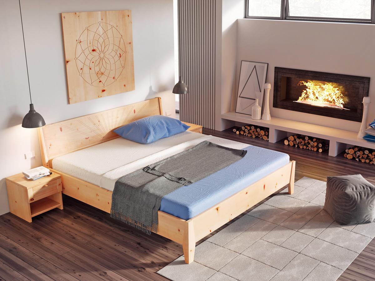 """Zirbenschlafzimmer mit Wandbild """"Traumfänger"""""""