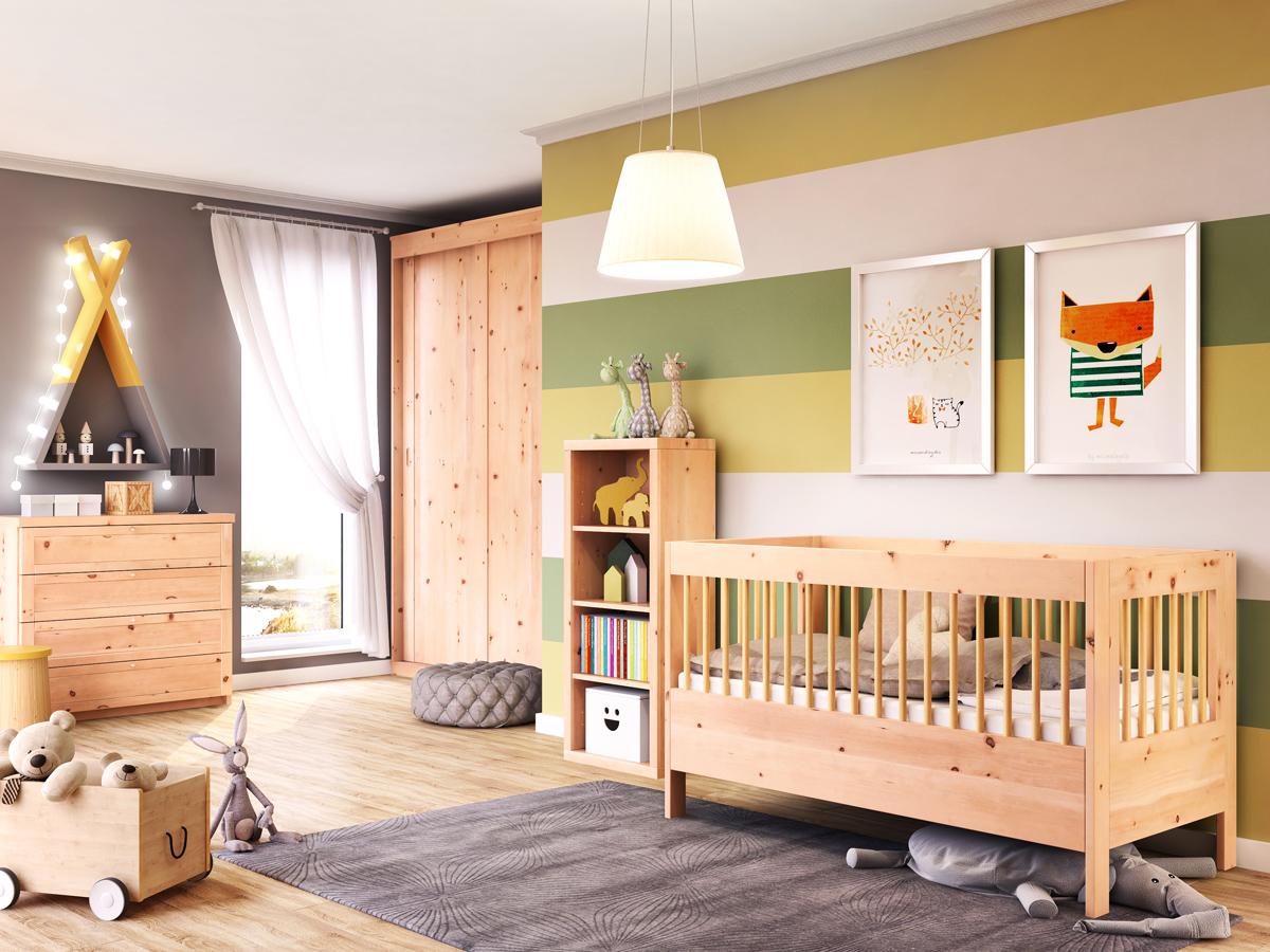 """Zirbenschlafzimmer mit Kommode """"Gerti"""" 50 cm"""