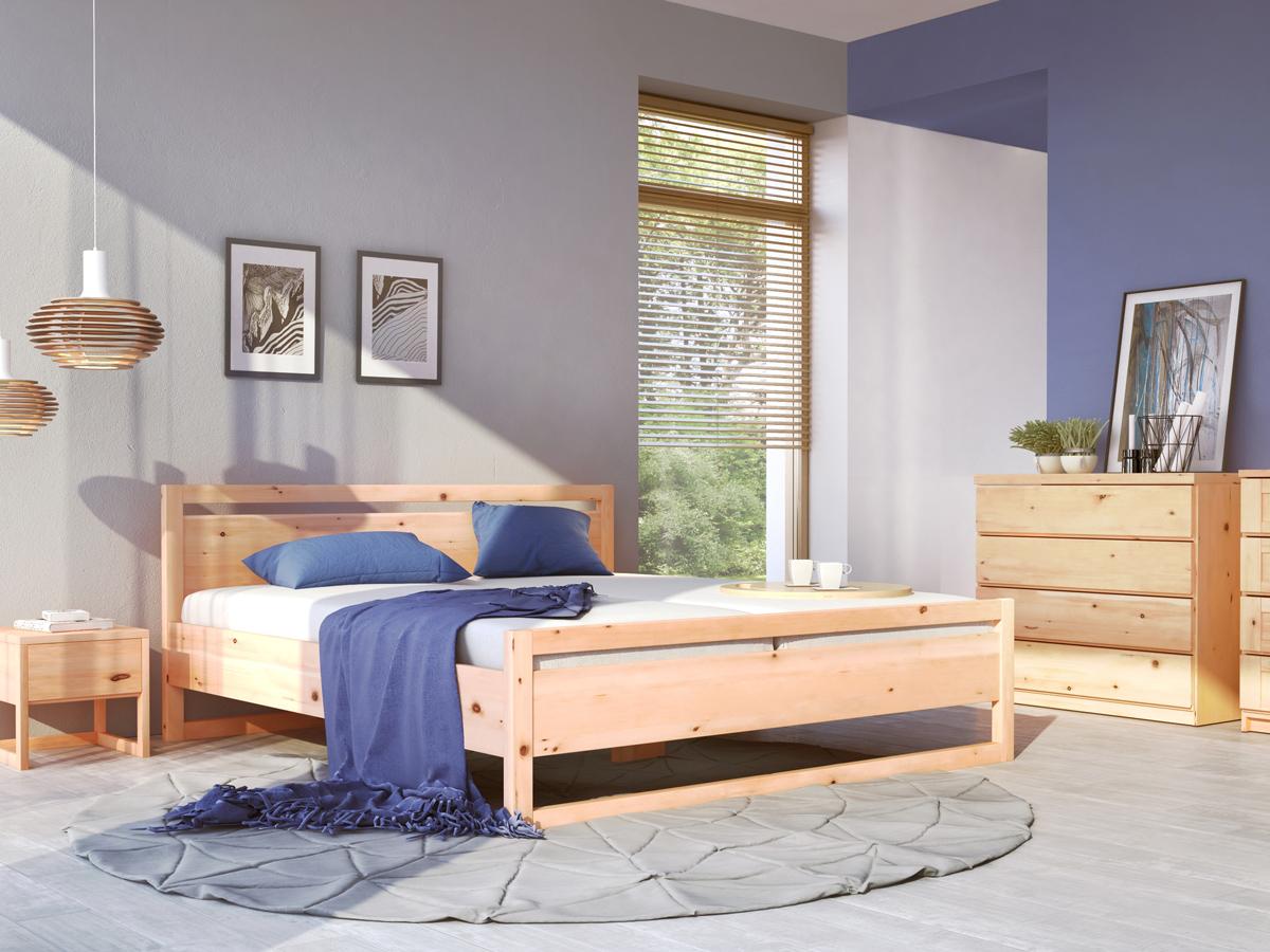 """Schlafzimmer mit Nachtkästchen aus Zirbe """"Selina"""""""