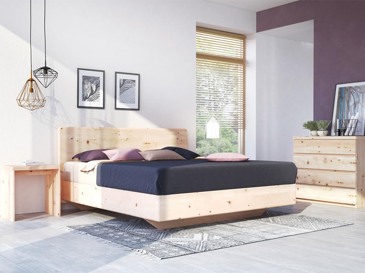 "Zirbenzimmer mit Bett ""Valentina"" Boxspring 180 x 200 cm"