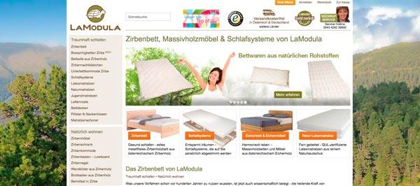 November 2013: LaModula WEBSHOP im neuen Design