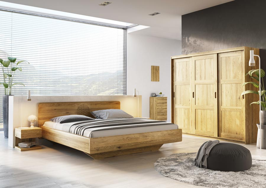 nachttisch eiche nachttische aus eichenholz. Black Bedroom Furniture Sets. Home Design Ideas