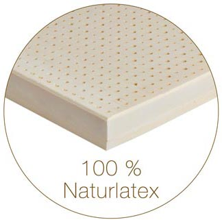 Natur-Latexmatratze aus 100 % Kautschuk
