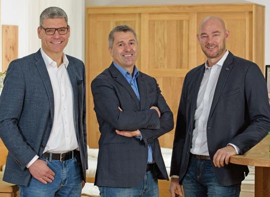 L'Amministratore Delegato LaModula Mag. Hannes Bodlaj con i soci Martin Krebs e Boris Mikula